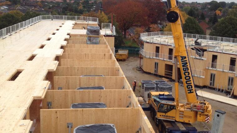 Budownictwo mieszkaniowe z drewna CLT